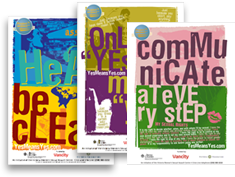 "Three new posters ""communicate at every step"", etc"