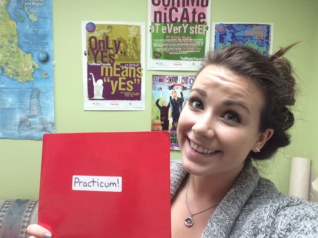 Madi starts her practicum with Project Respect