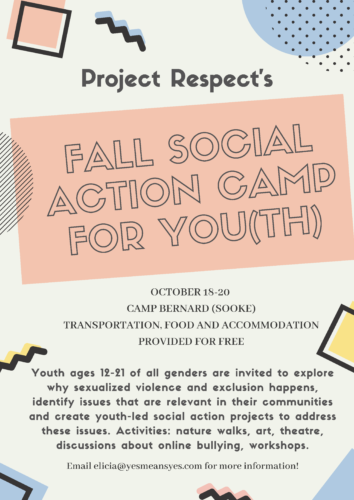 Fall Youth Social Action Camp!