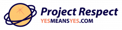 Project Respect logo, yesmeansyes.com.