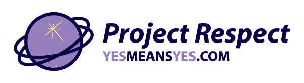Project Respect logo, grape, yesmeansyes.com.