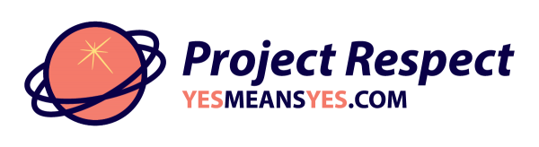Project Respect logo, peach, yesmeansyes.com.
