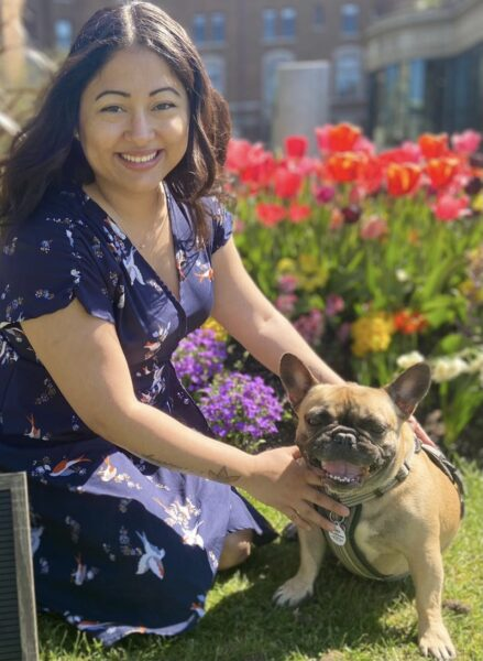 image of laura with her dog